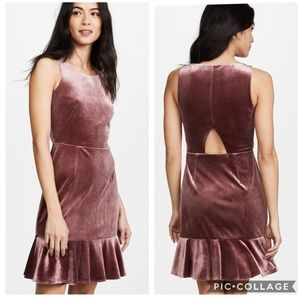 Rebecca Minkoff Tiffany Blush Velour Dress 8
